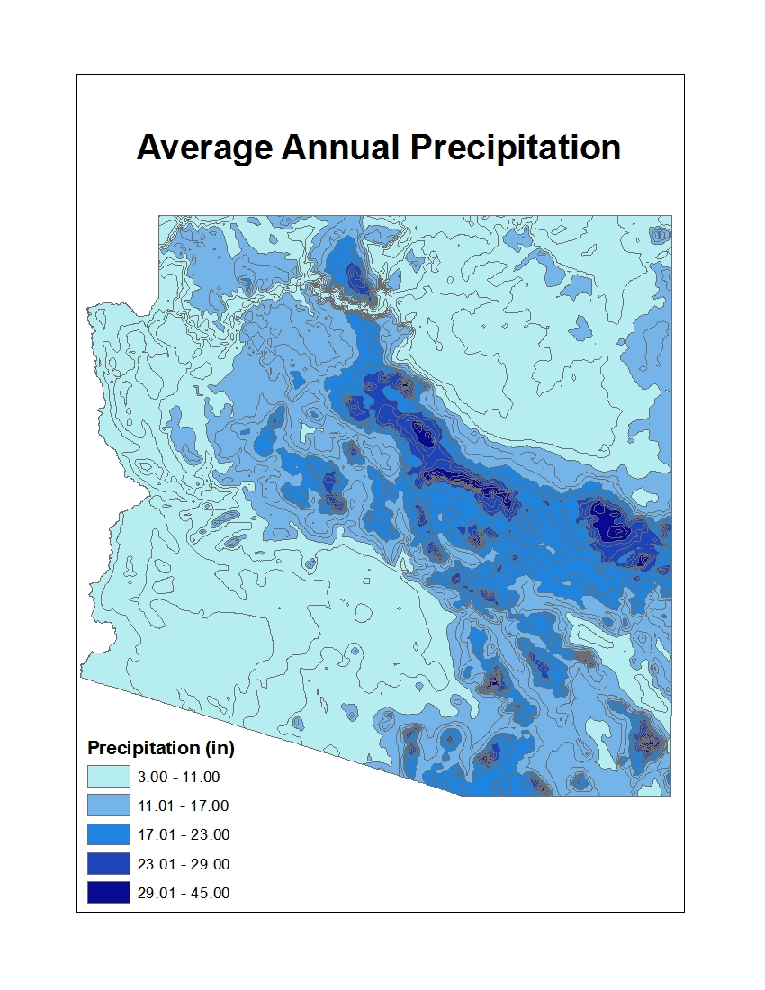 how to find the annual precipitation