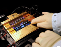 A newly designed solar cell ready for testing