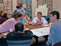 Participants in a stakeholder workshop helping to develop a sustainable vision for the city of Phoenix
