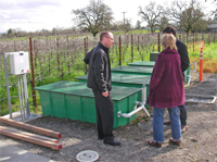 Dr. Wiek exploring a sustainable wine production system in Sonoma County, CA