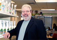 Dr. Dooley at the Sustainability Consortium's research facility