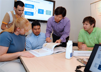 Research staff and students at the Sustainability Consortium help develop energy standards for assessing consumer products