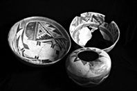 Three pottery vessels from the 12th century combine old and emerging styles
