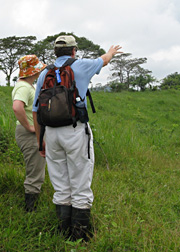 Dr. Kinzig assesses Panama ecosystems with a colleague from the Smithsonian Tropical Research Institute
