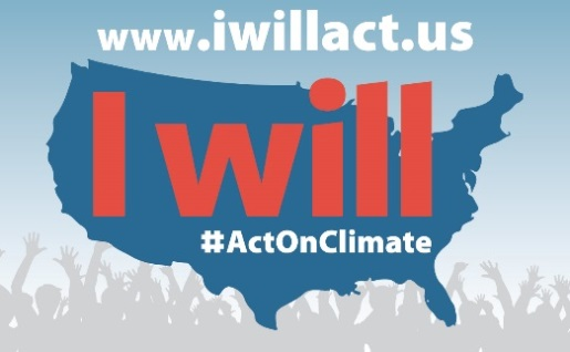 I will #ActOnClimate poster