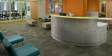 Wrigely Hall reception desk
