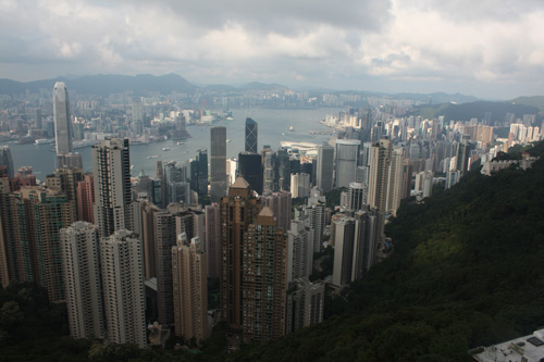 Arial picture of Hong Kong