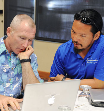 Hawaiian teachers working at the June 2015 Teachers' Academy