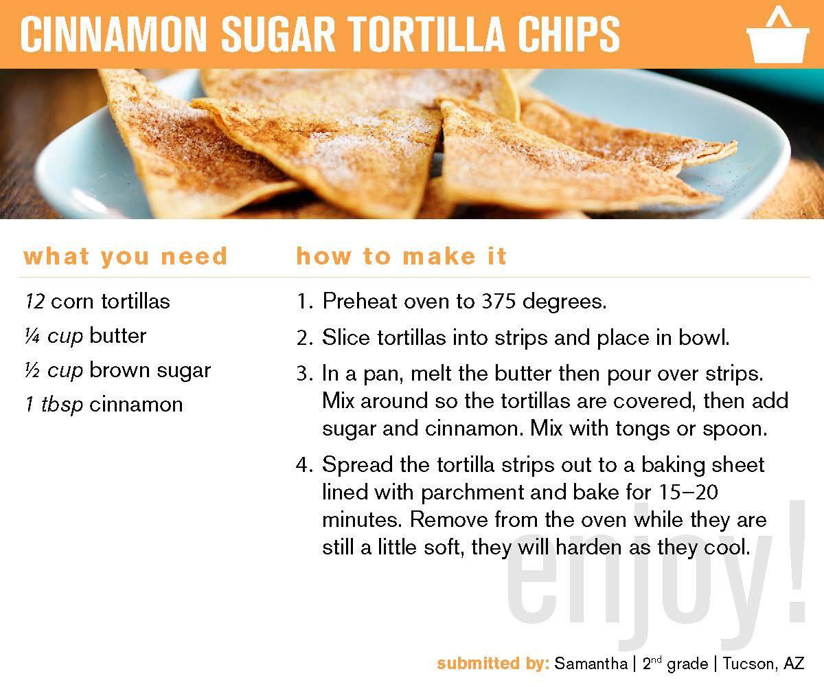 Clickable preview of pdf recipe; Cinnamon Chips