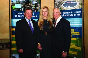 ASU President Michael Crow with Rob and Melani Walton