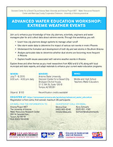 2015 Advanced Water Education Workshop Flyer