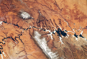satellite image of the Colorado river