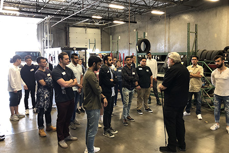 Students touring Glendale, AZ fleet facilities
