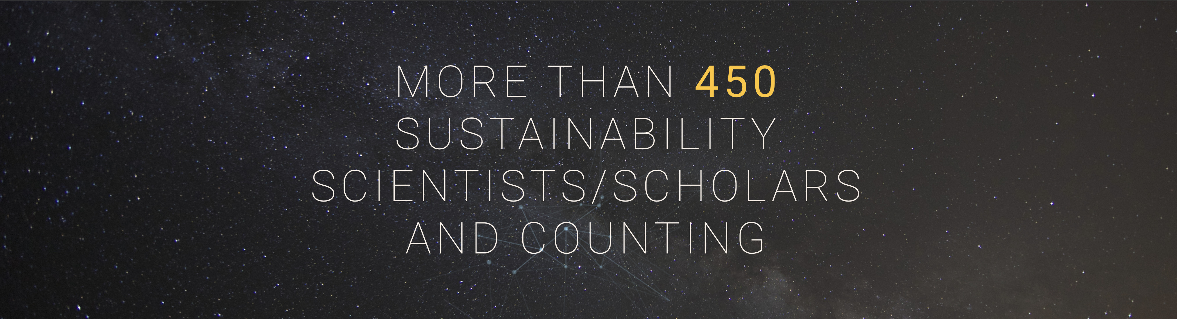 More than 450 Sustainability Scientists/Schoalrs and Counting Screen Shot