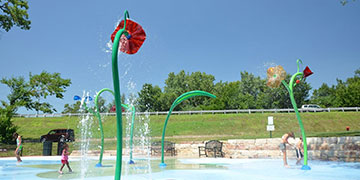 Water park on a summer day