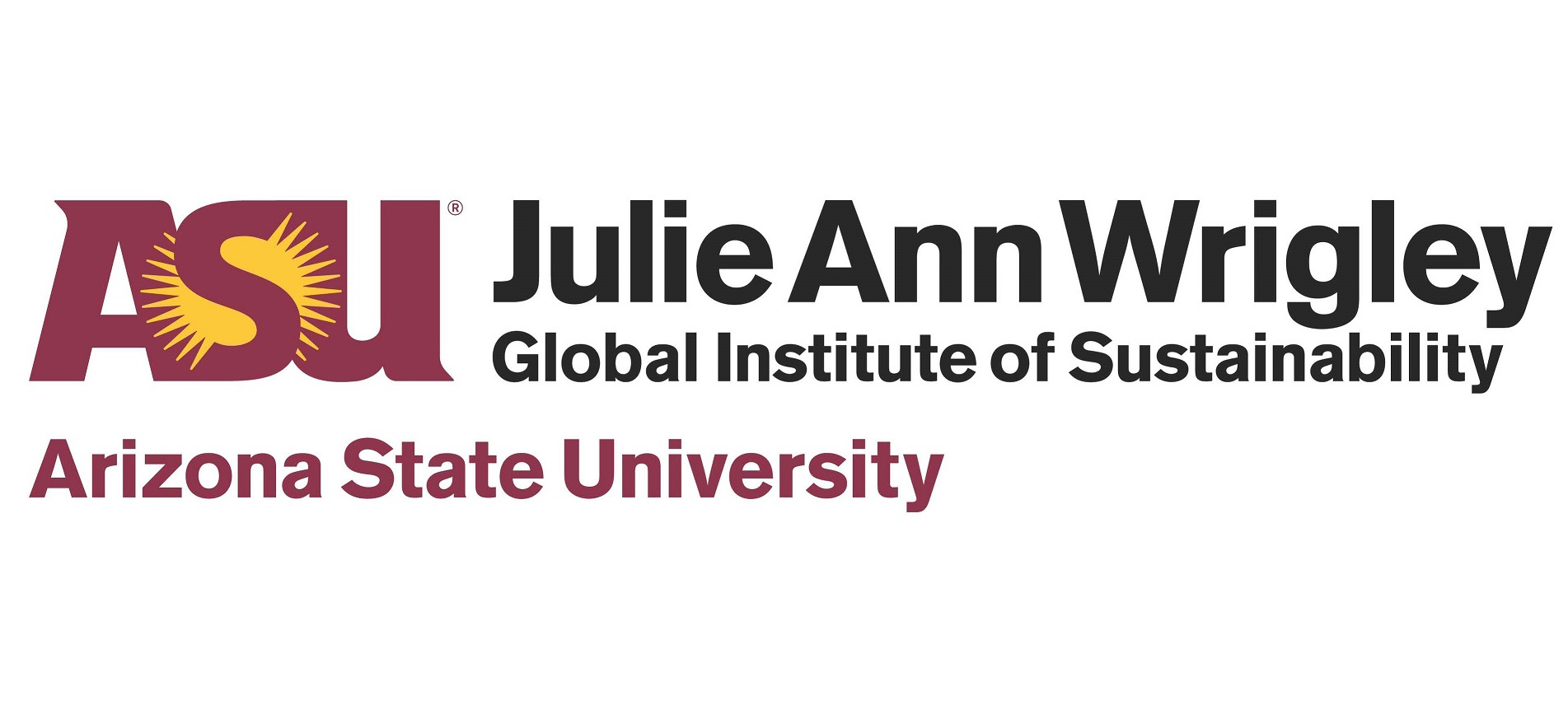 Chemonics Arizona State University's Julie Ann Wrigley Global Institute of Sustainability Logo