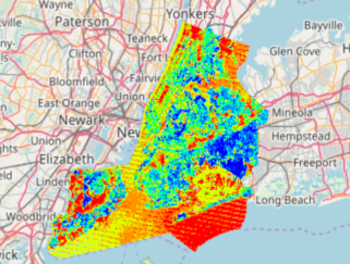 New York Land Surface Temperature