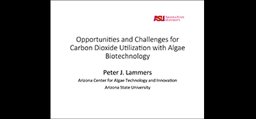 Oppertunities and Challenges for Carbon Dioxide Utilization with Algae Biotechnology pdf