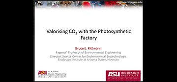 Valorizing C02 with the Photosynthetic Factory