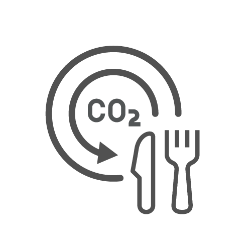 food and co2 icon