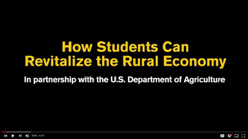 How Students Can Revitalize the Rural Economy by Tom Vilsack