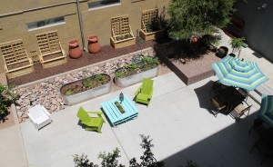 School of Sustainability Residential Community's courtyard