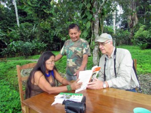Dave Pearson holding a workshop, at the Peruvian Amazonian Research Institute in Iquitos, Peru