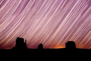 Star Trails over Monument Valley, Arizona