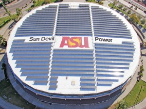 Solar Panels on ASU's Wells Fargo Arena