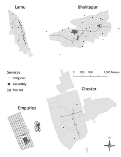 service distribution in small cities reduced