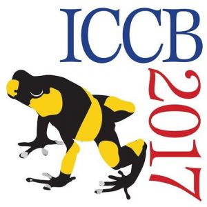 ICCB 2017 logo showing clown frog