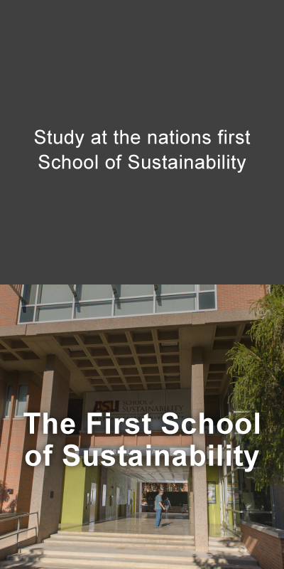 Study at the nation's first School of Sustainability